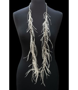 Airy necklace from ostrich feathers