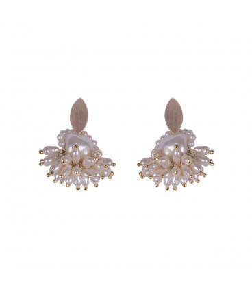 Delicate pearl earrings.