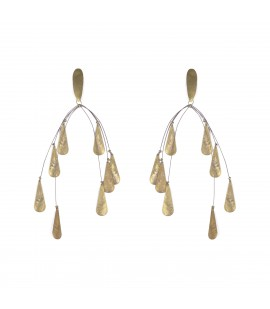 Dangling gold plated earrings.
