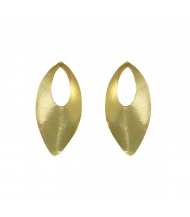 Bronze gold plated earrings.