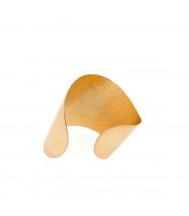 Handmade bronze gold plated cuff.