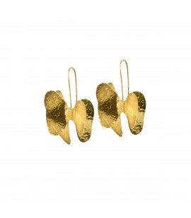 Handmade bronze gold plated earrings.