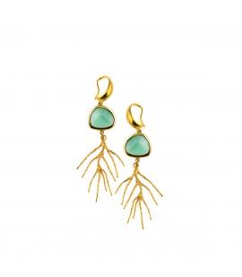 Coral shaped drop earrings.