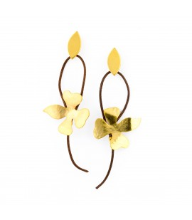 Drop gold plated earrings