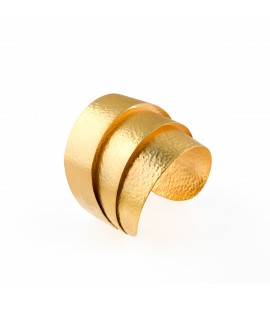 Handmade bronze gold plated cuff.