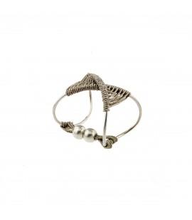Knitted linen bracelete.