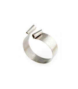 Handmade bronze silver plated bracelet.