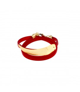 Rubber and gold plated bracelet