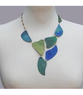 Unique designed patina necklace.