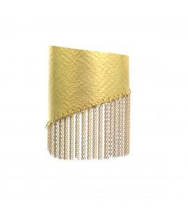 Striking gold plated bracelet.