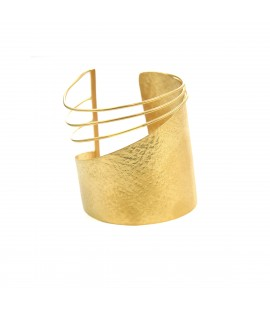 Handmade  gold plated cuff.
