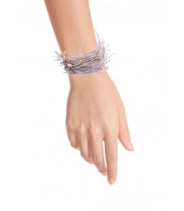 Delicate linen bracelet.