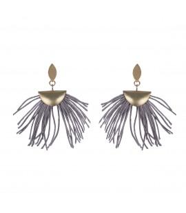 Stylish linen earrings.