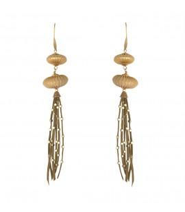 Playful fringed long earrings.