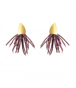 Playful faux suede earrings, pink