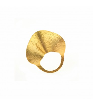 Stylish  gold plated ring.